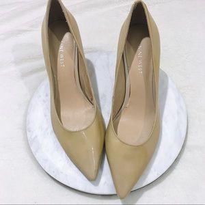 Nine West Pointed Toe Mustard High Heels